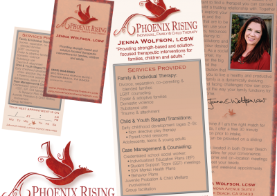 Phoenix Rising Logo and Print Designs