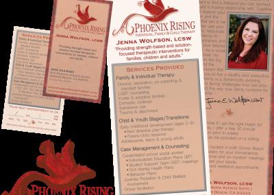 Phoenix Rising Logo and Print Designs